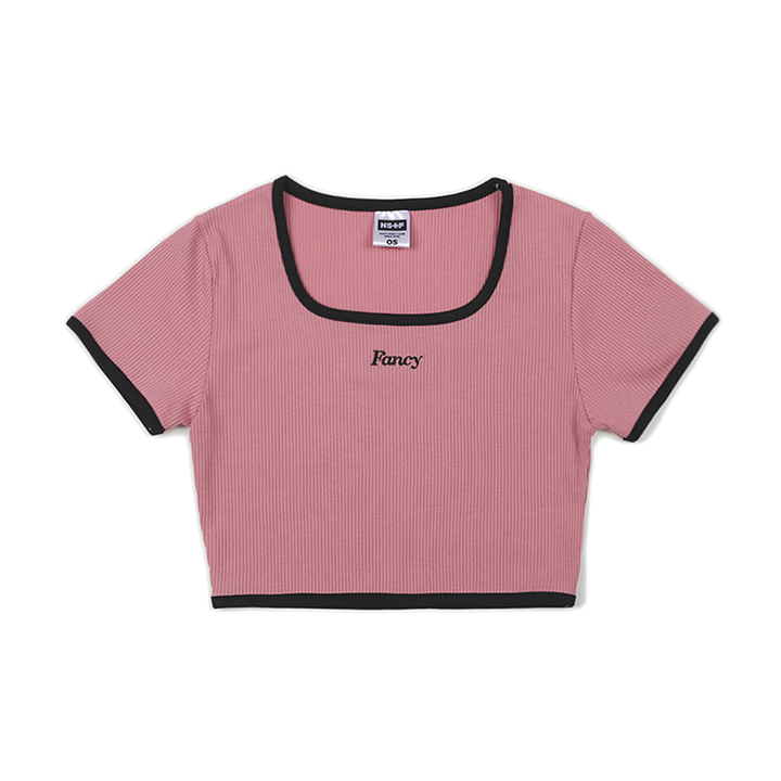 [NF] FANCY SQUARE CROP TEE PINK (NF19S076H)