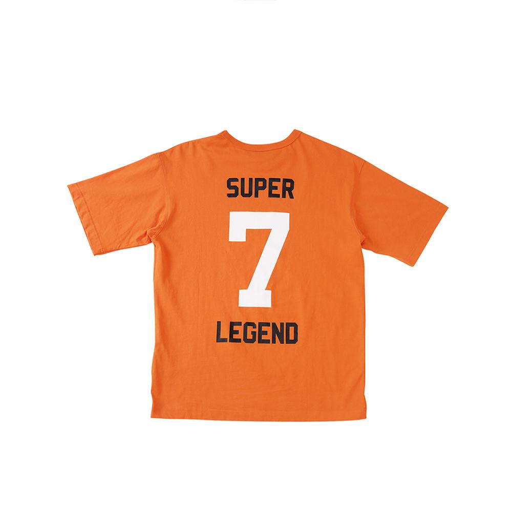 W_스웩버 3518 슈퍼소니 오버핏 티셔츠 오렌지