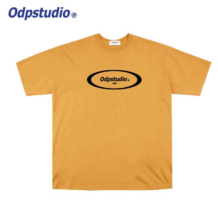 오디피스튜디오 - 서클 로고 반팔티셔츠 옐로우
