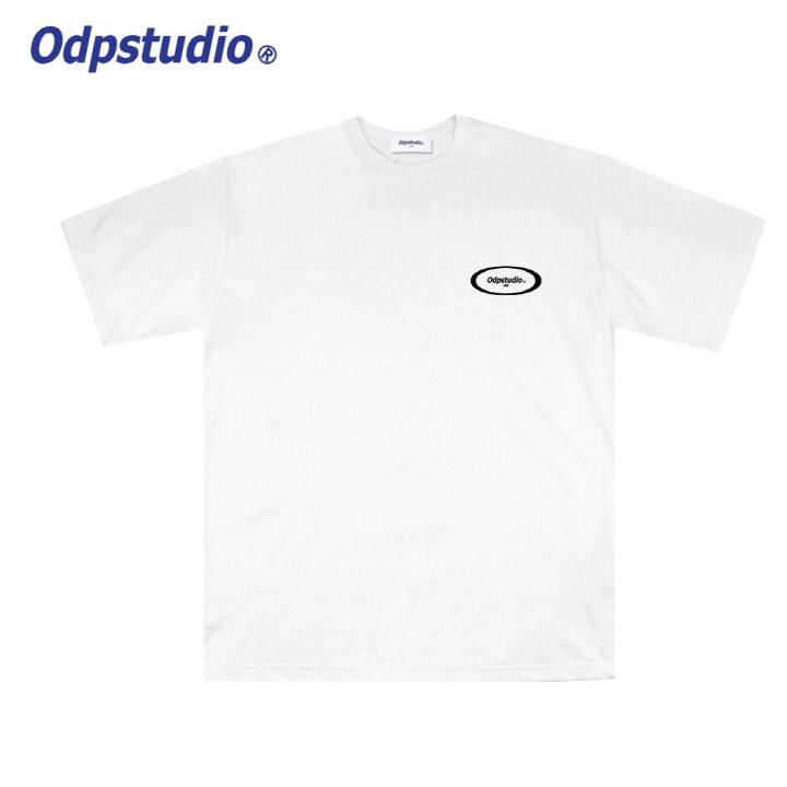 오디피스튜디오 - 스몰 서클 로고 반팔티셔츠 화이트