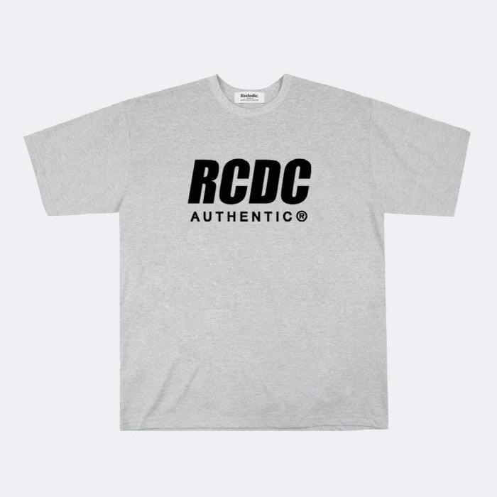 리클로딕 - RCDC 로고 반팔티셔츠 그레이