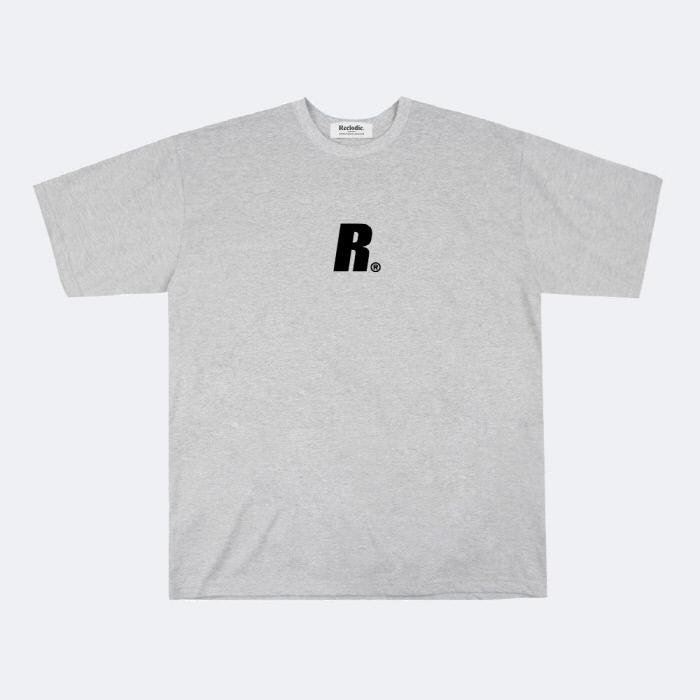 리클로딕 - 이니셜 로고 반팔티셔츠 그레이