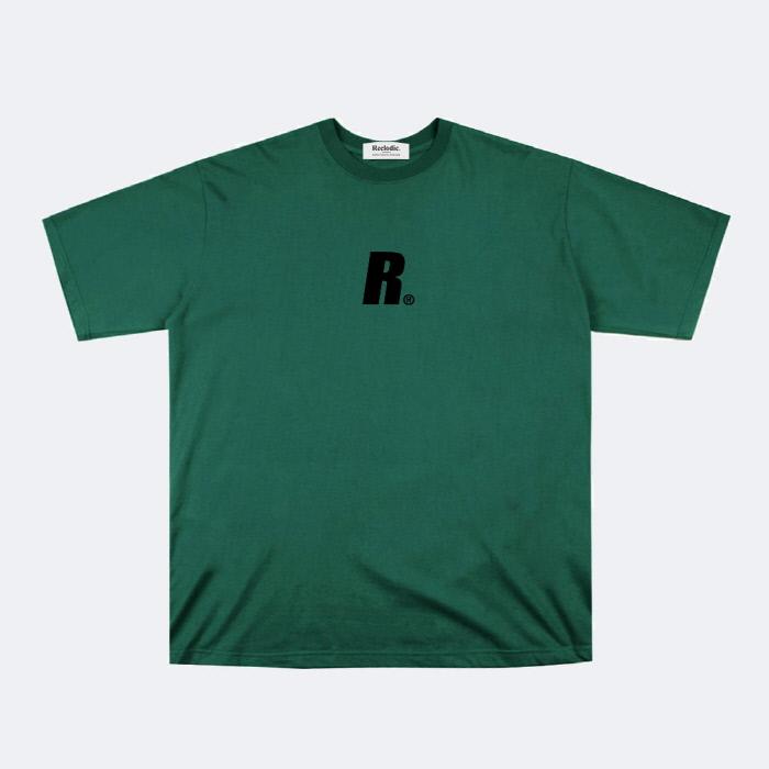 리클로딕 - 이니셜 로고 반팔티셔츠 그린