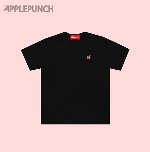 애플펀치 - 자수패치 반팔티셔츠 블랙