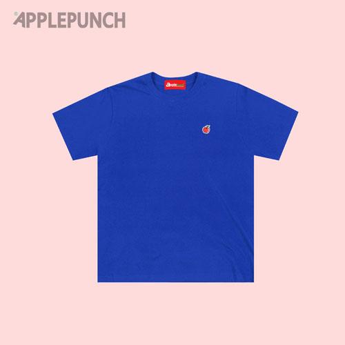 애플펀치 - 자수패치 반팔티셔츠 블루