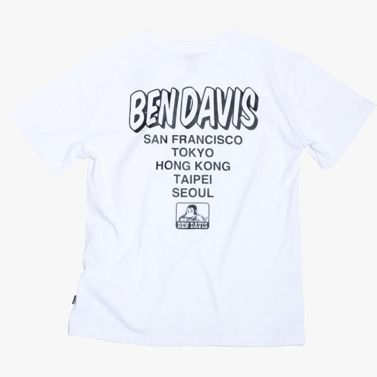 벤데이비스 시티 프린트 티셔츠 화이트