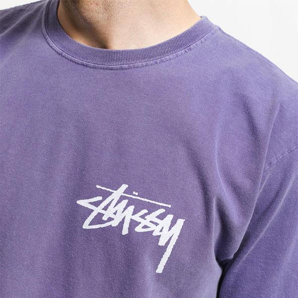 19SS 스투시 스톡 피그 티셔츠 퍼플