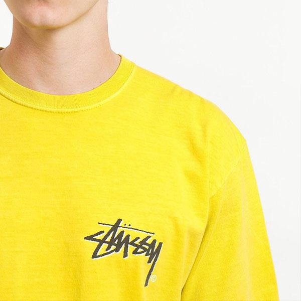 19SS 스투시 스톡 피그 티셔츠 라임