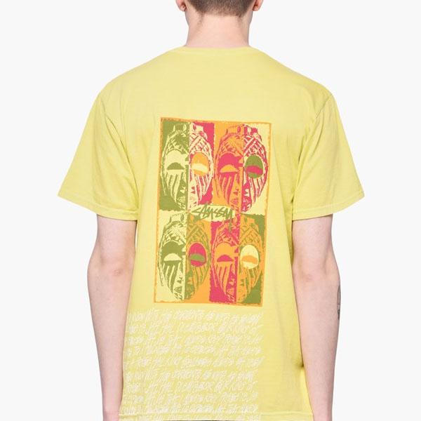 [해외]19SS 스투시 마스크 피그 프린팅 티셔츠