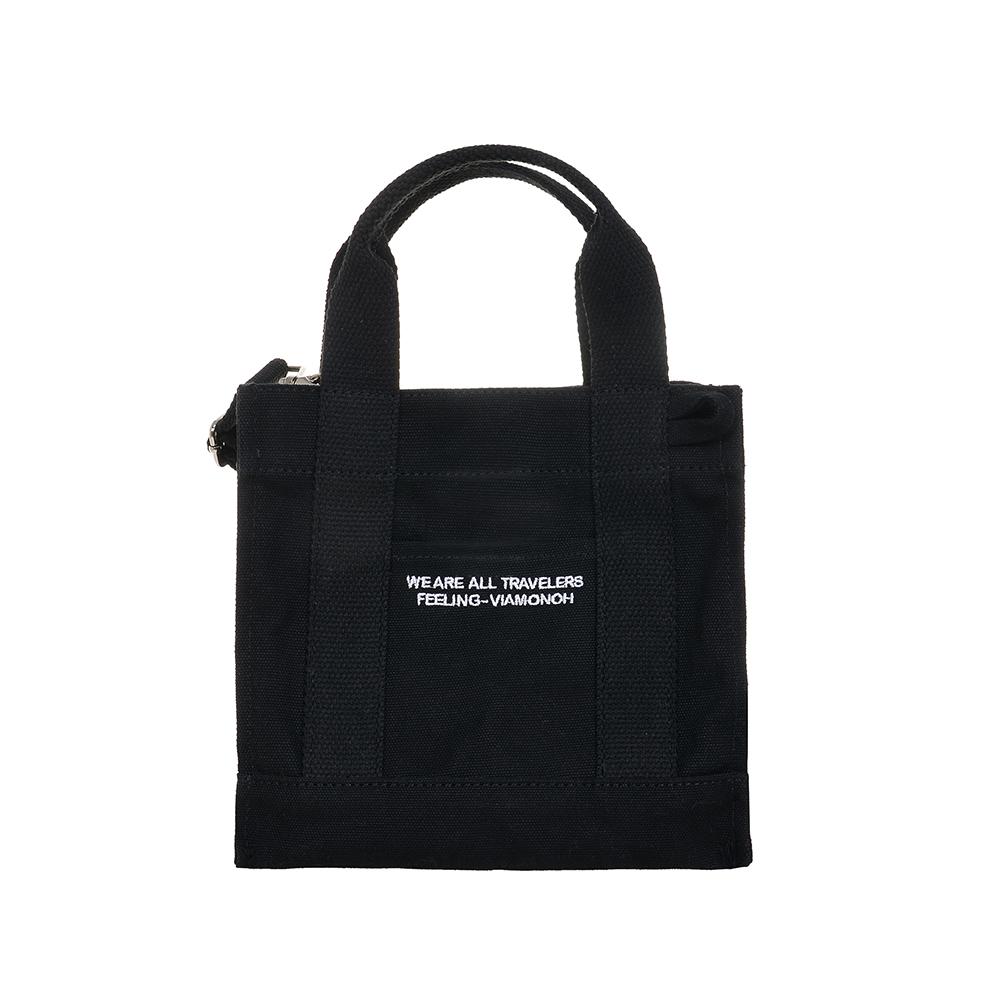 VIAMONOH DAILY MINI CANVAS BAG (BLACK) 에코백 토트백 미니크로스백 가방
