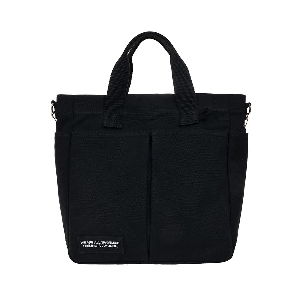 VIAMONOH DAILY TUMBLER BAG (BLACK) 에코백 토트백 크로스백 텀블러백 가방