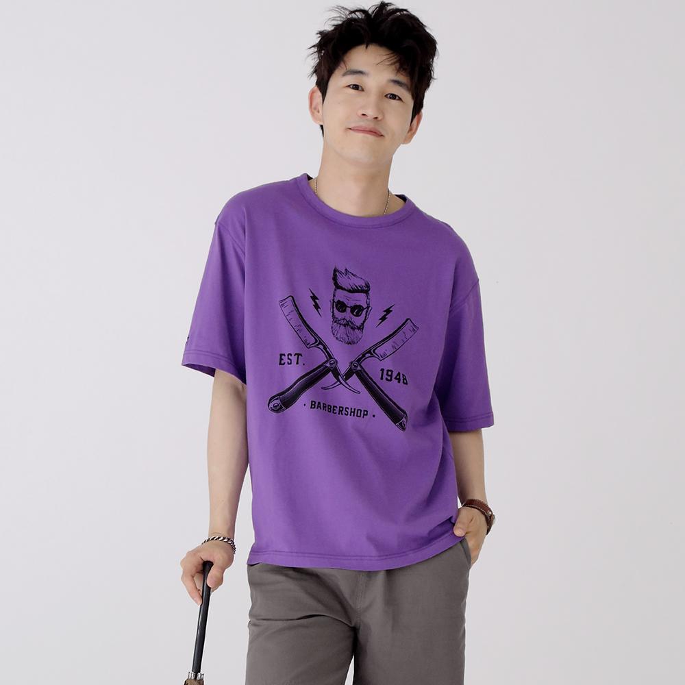 스웩버 3514 레이저 오버핏 티셔츠 바이올렛