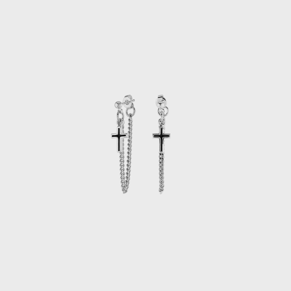 EPOXY CROSS CHAIN EAR