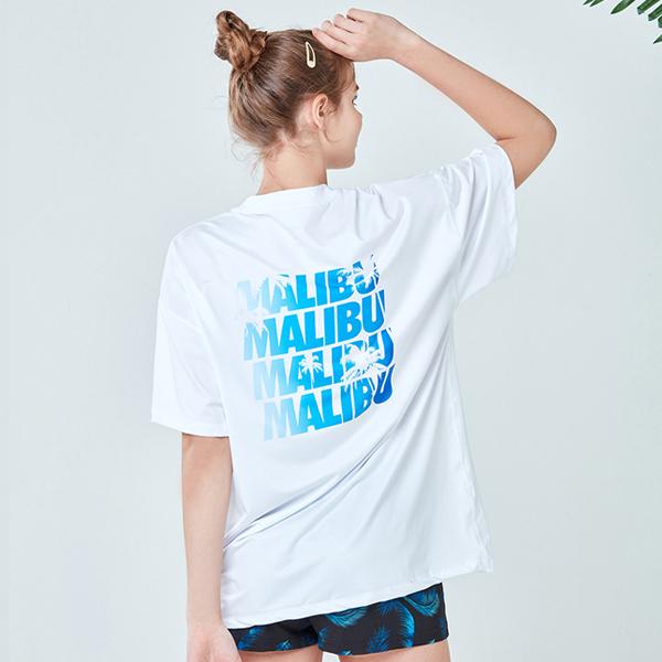 아키클래식 말리부 래쉬 반팔 티셔츠 화이트
