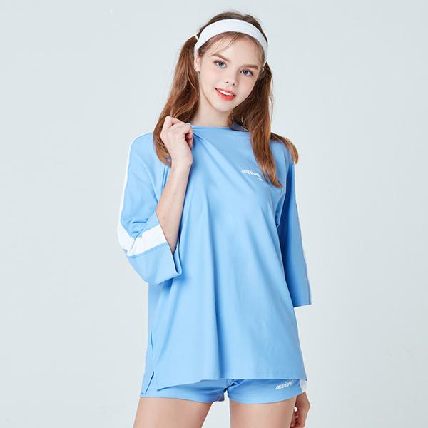 아키클래식 7부 라인 래쉬 티셔츠 프렌치 라일락