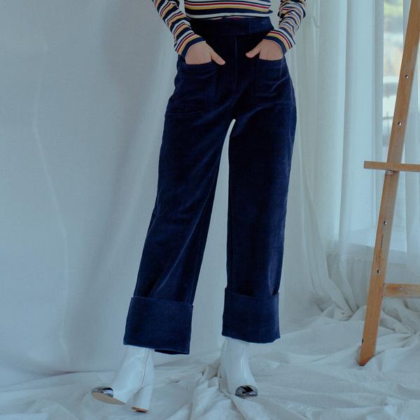 [JULIETTE] HIGH WAIST CORDUROY WIDE PANTS