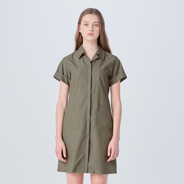SAFARI STYLE SLIM DRESS