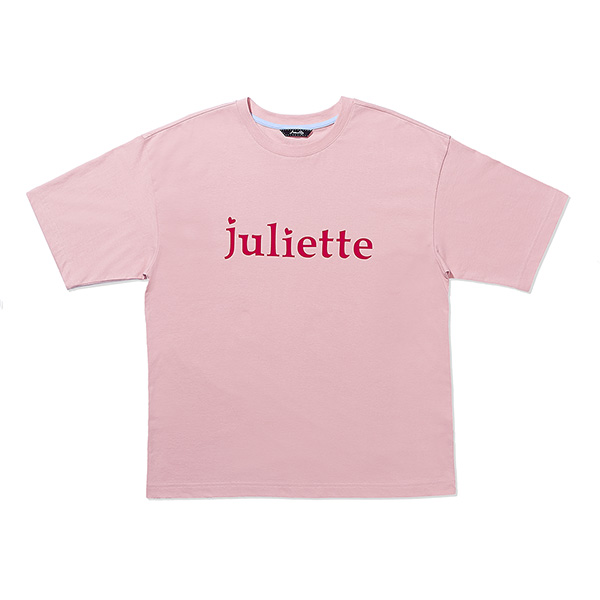 FRENCH LETTERING PRINT T-SHIRT PINK
