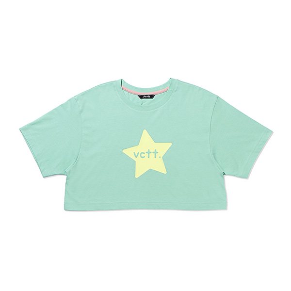 STAR PRINT CROP T-SHIRT MINT