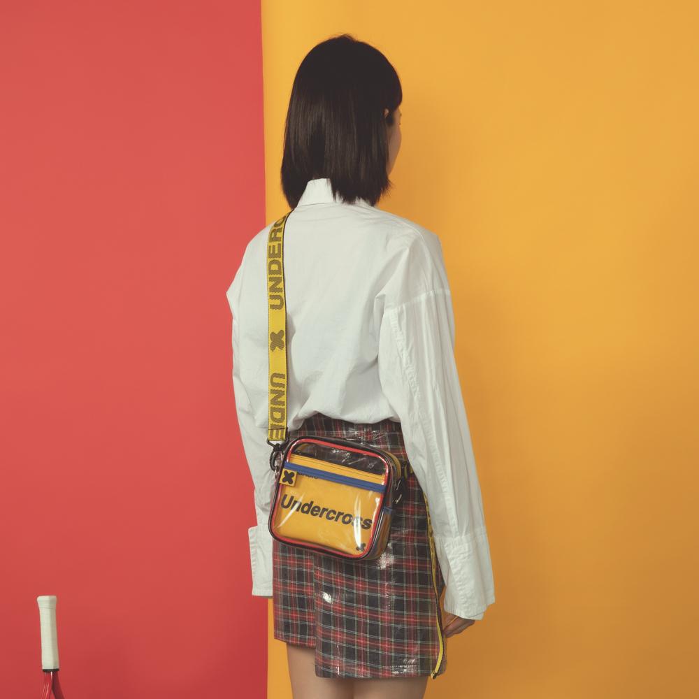 [UNDERCROSS] 네모 미니 크로스백 PVC 클리어 투명백