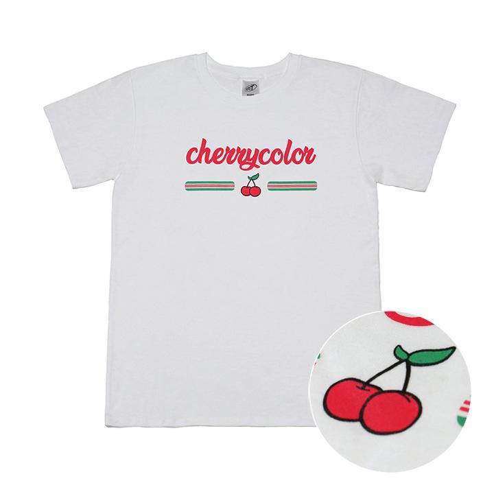 [단독상품][리핏] 체리 컬러 티셔츠