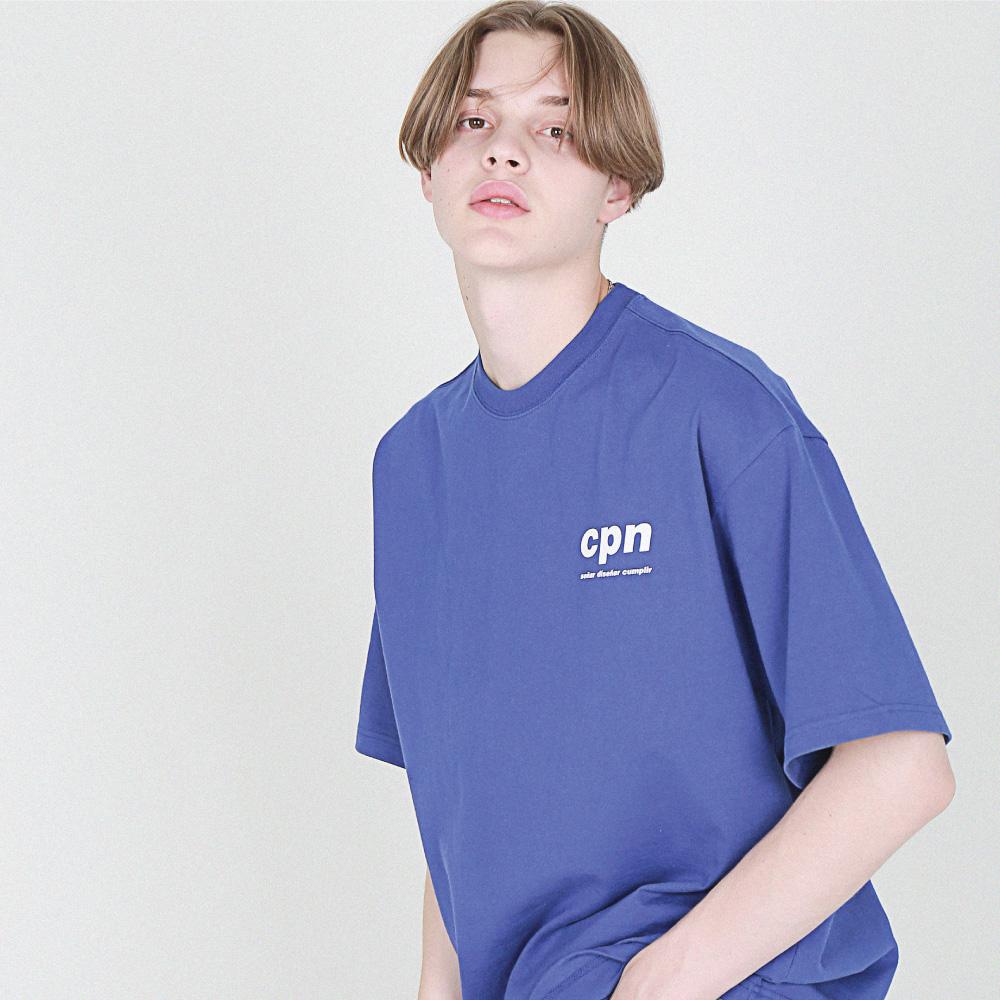 [16수] back of neck Label 반팔 로얄퍼플