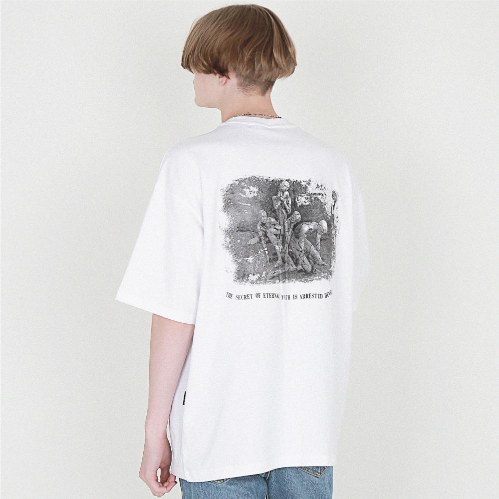 [16수] ETERNAL Youth back printing 화이트