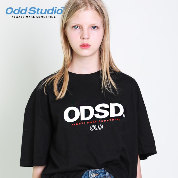 오드스튜디오 ODSD 로고 티셔츠 - BLACK