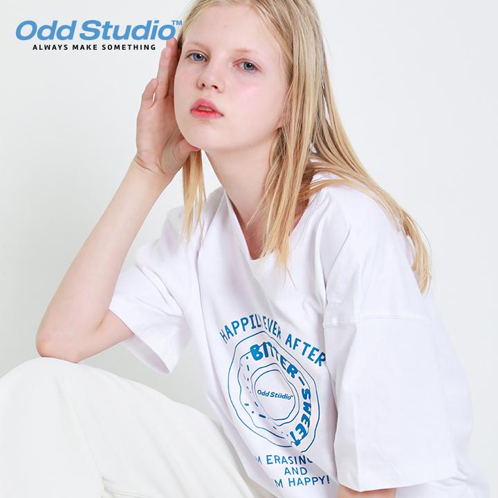 오드스튜디오 오드 도넛 티셔츠 - WHITE