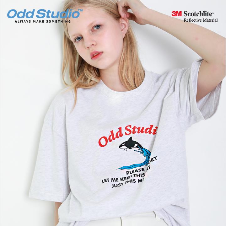 오드스튜디오 그램퍼스 티셔츠 - OATMEAL