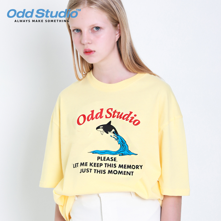 오드스튜디오 그램퍼스 티셔츠 - YELLOW