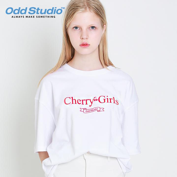 오드스튜디오 체리걸스 티셔츠 - WHITE