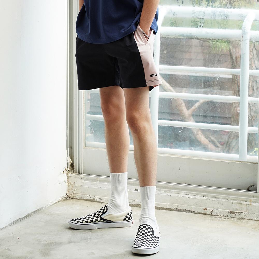 Color Block Span Short Pants(Dark Gray)