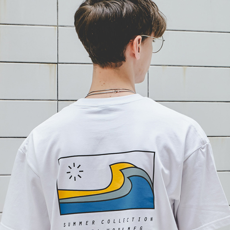 Big Wave S/S T-Shirts(White)