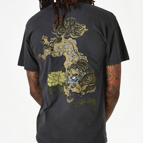 19SS 스투시 FU DOG 티셔츠 블랙