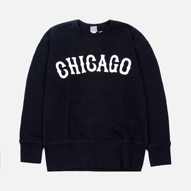 [국내배송]이벳필드 CHICAGO 맨투맨 (블랙)
