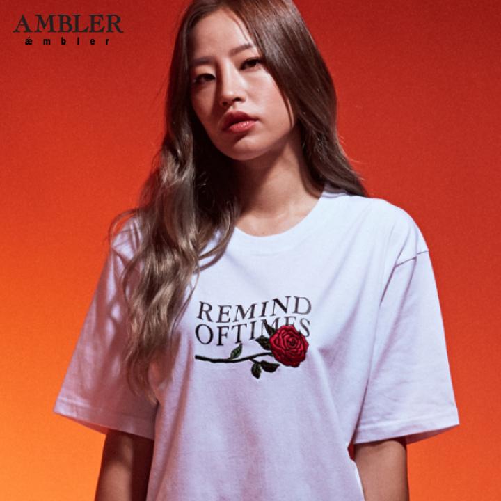 [엠블러]AMBLER 19SS 신상 반팔 티셔츠 AS633-화이트