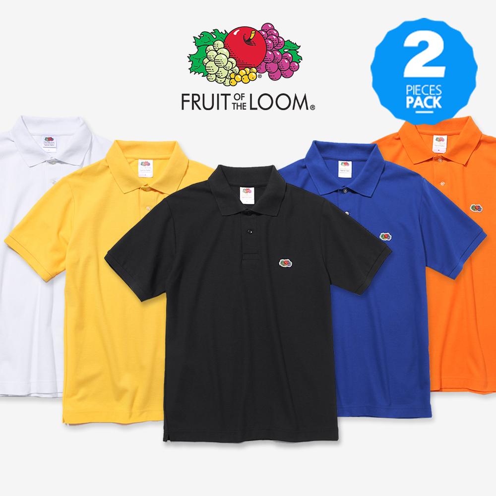 [1+1](2PACK) 프룻오브더룸 와펜 폴로 티셔츠
