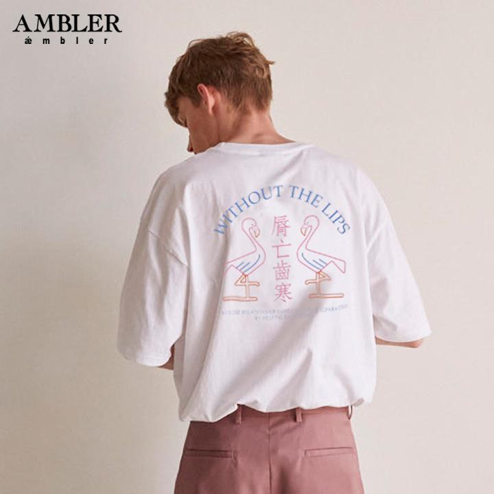 [엠블러]AMBLER 19SS 신상 반팔 티셔츠 AS636-화이트