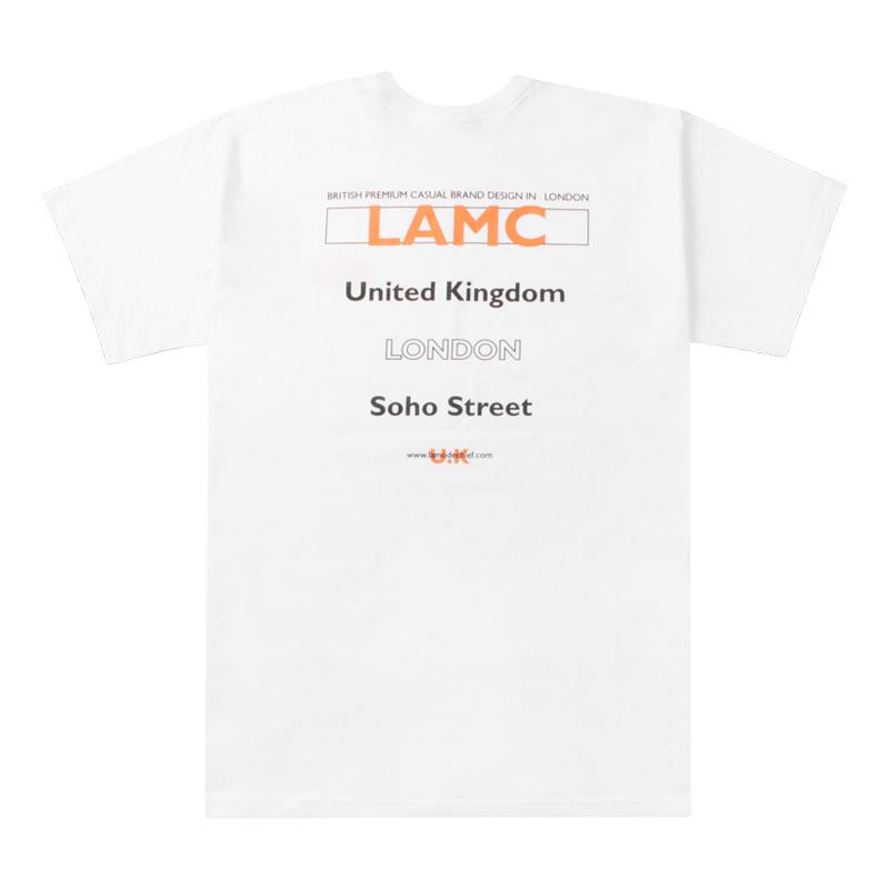 LAMC FILL LOGO OVERFIT SHORT SLEEVE (WHITE)