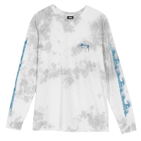 19SS 스투시 웨이브 롱 슬리브 티셔츠 그레이