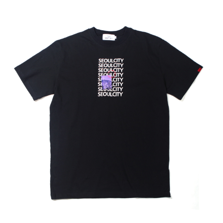 [단독할인]SEOUL CITY OVER FIT TEE BLACK