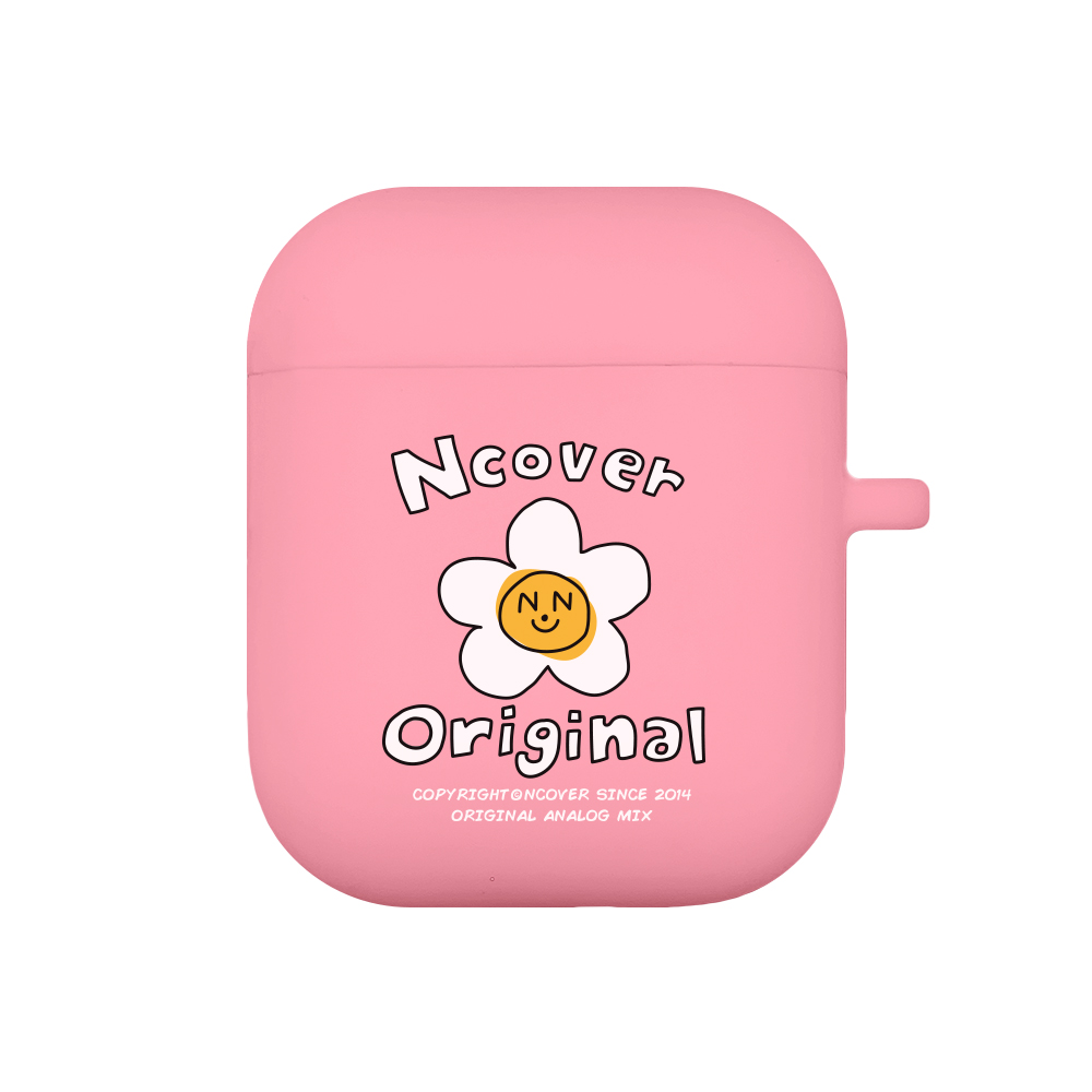 Flower graphic-pink(airpods jelly case)
