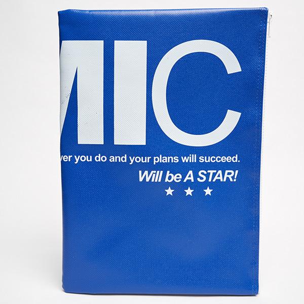 PVC 타포린 클러치 방수 백(블루)