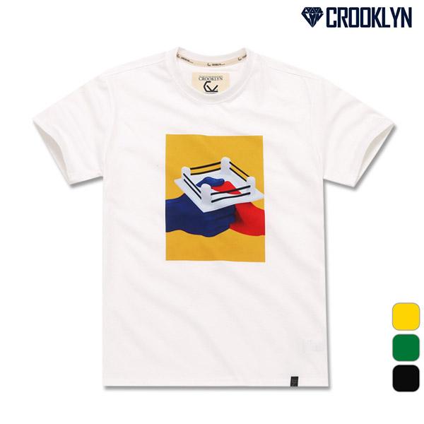크루클린 아트 그래픽 전사나염 반팔 티셔츠 TRS066