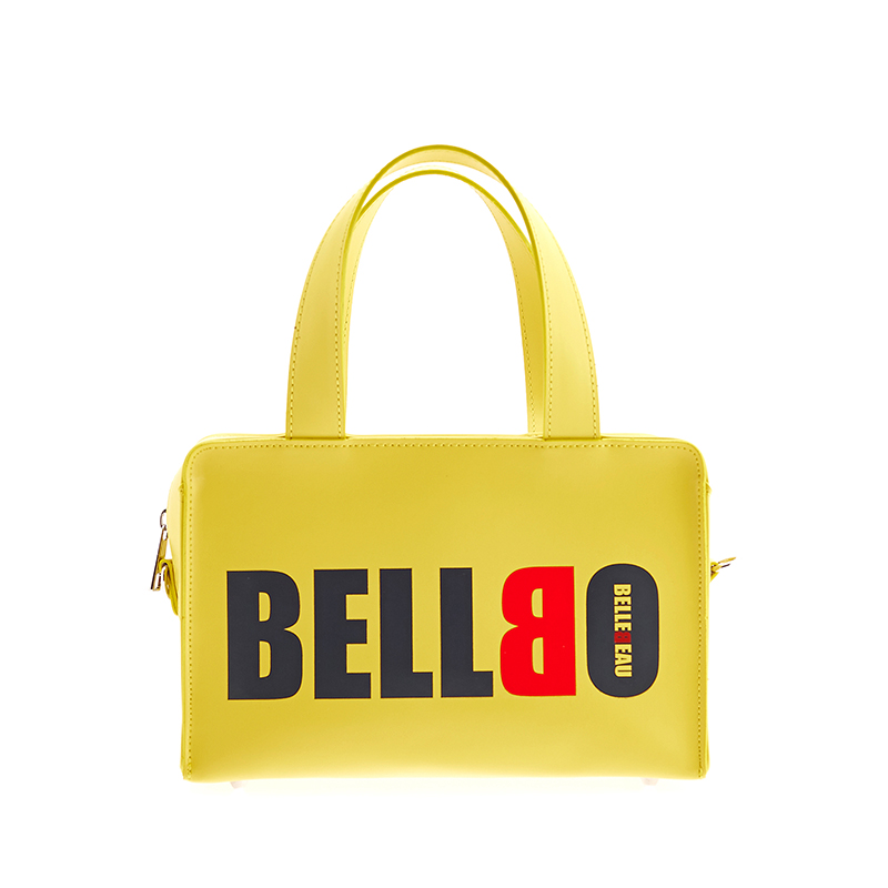 [BELLBO] BOX TOTE BAG YELLOW
