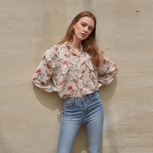 FLOUNCE SEE-THROUGH BLOUSE_IVORY