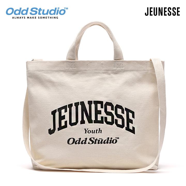 [주말특가][단독할인]쥬네스 x 오드스튜디오 콜라보레이션 투웨이 크로스백 - WHITE/BLACK