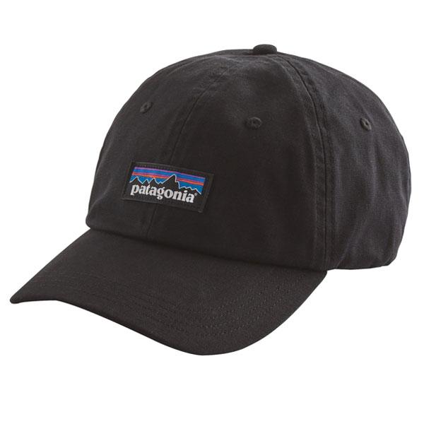 [해외]파타고니아 P-6 로고 레이블 볼캡 블랙