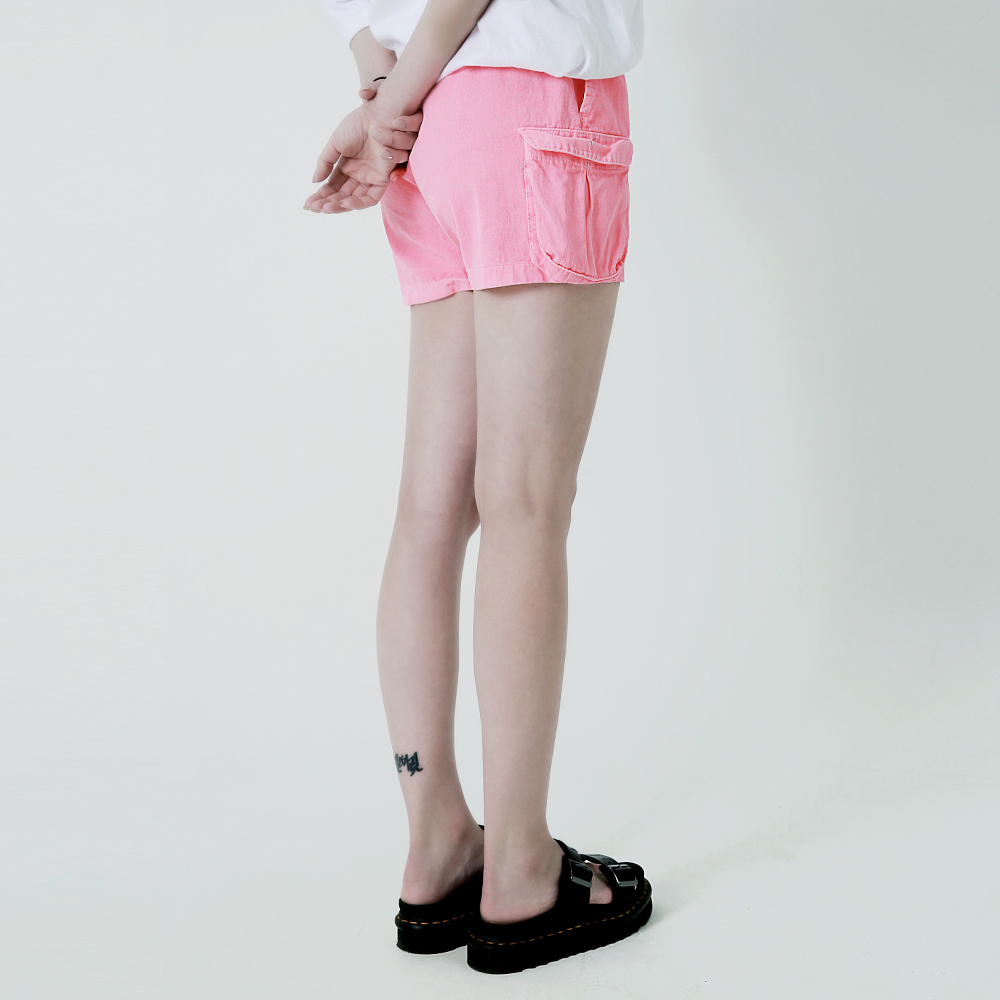 [여성]피그먼트 카고 숏팬츠 핑크